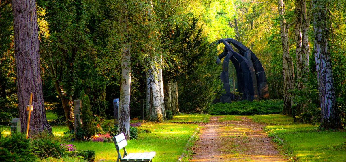 A beautiful green graveyard