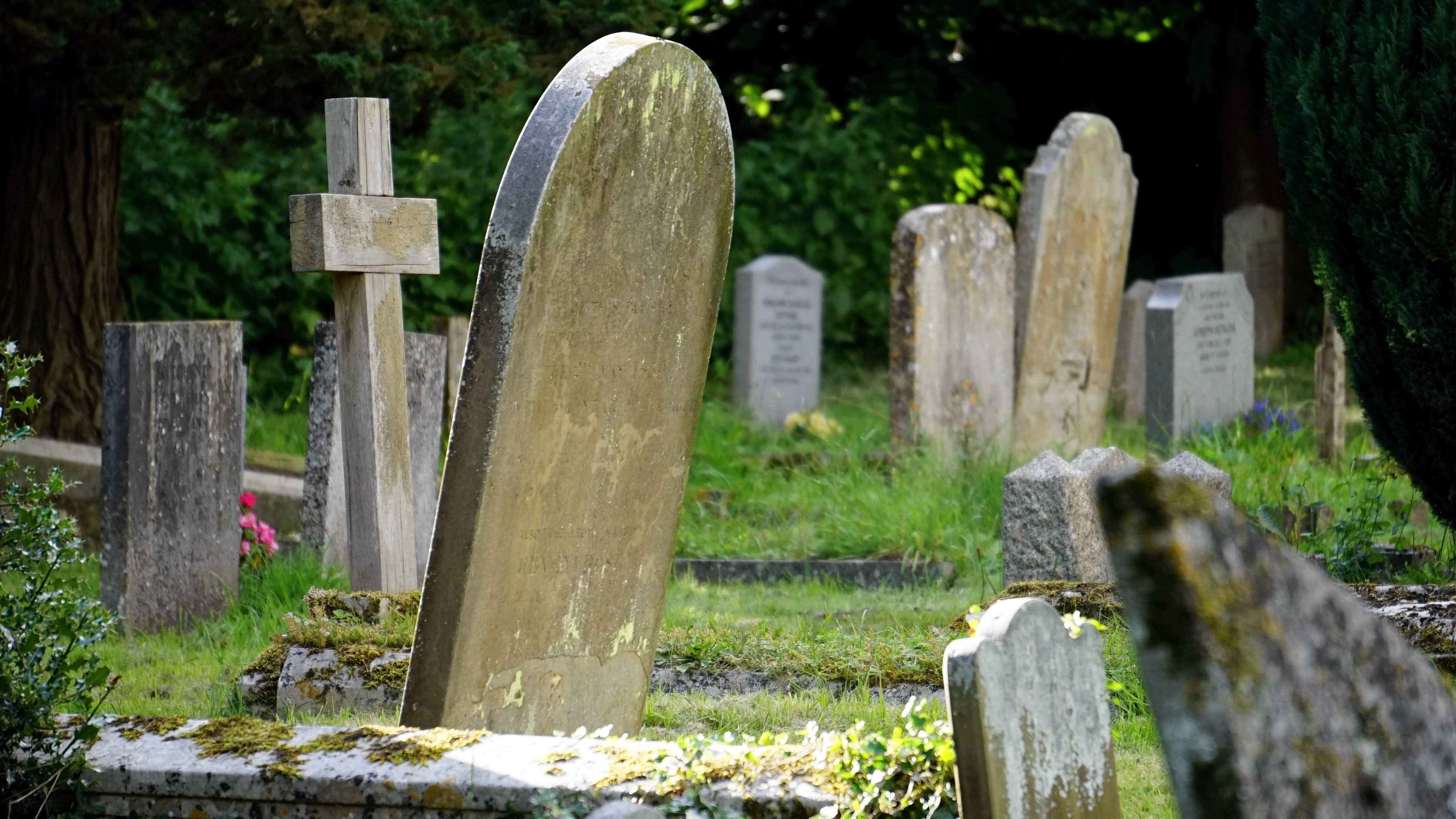 Overcrowded Traditional Grave Site